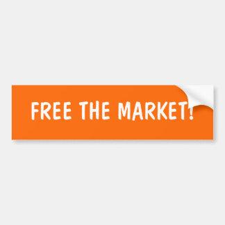 FREE THE MARKET BUMPER STICKERS
