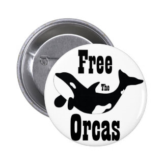 Free The Orcas 6 Cm Round Badge