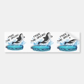 FREE THE ORCAS! BUMPER STICKER