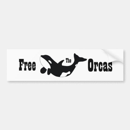 Free The Orcas Bumper Sticker