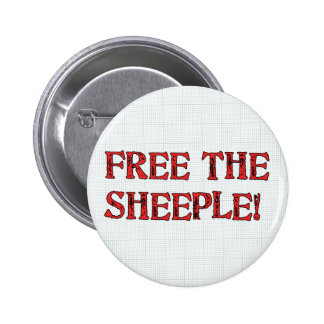 Free The Sheeple! 6 Cm Round Badge
