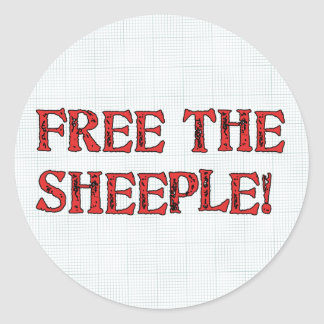 Free The Sheeple! Classic Round Sticker
