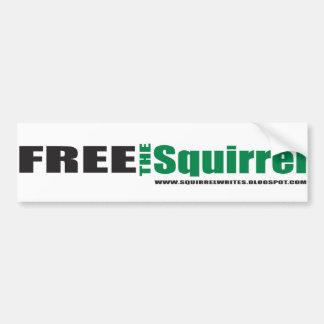 free the squirrel bumpersticker bumper sticker