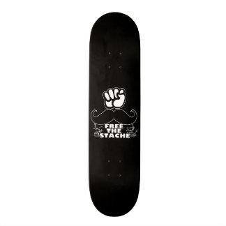 Free The 'Stache Custom Skate Board