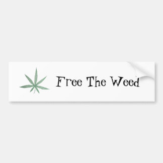 Free The Weed Bumper Sticker