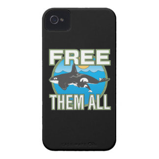Free Them All (Whales) iPhone 4 Case-Mate Case