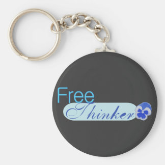 Free Thinker Basic Round Button Key Ring