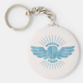 Free Thinker Basic Round Button Key Ring