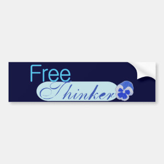 Free Thinker Bumper Sticker