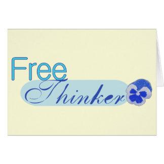 Free Thinker Greeting Card