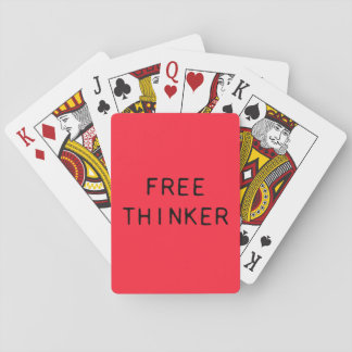Free Thinker Playing Cards