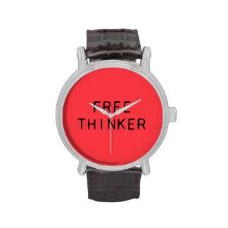 Free Thinker Watch with Leather Strap