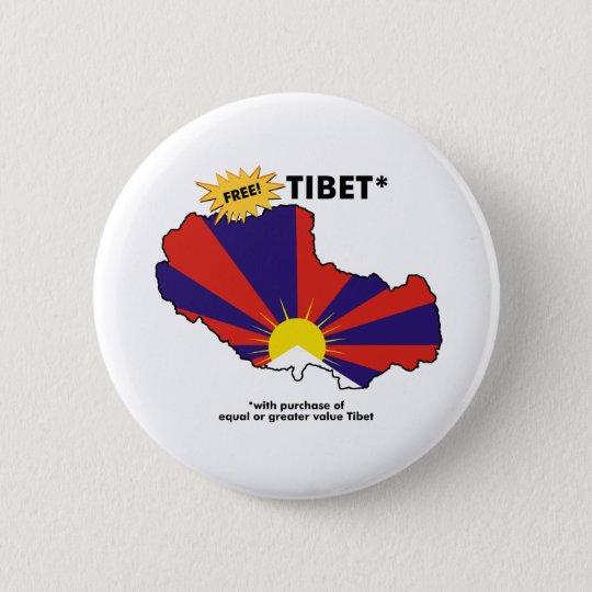 Free Tibet* 6 Cm Round Badge