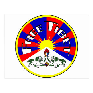 Free Tibet Badge Postcard