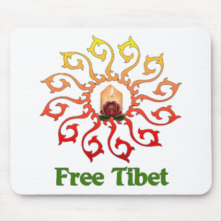 Free Tibet Candle Mouse Pad
