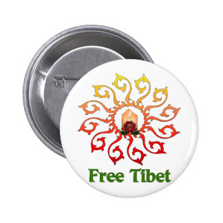 Free Tibet Candle Pinback Buttons
