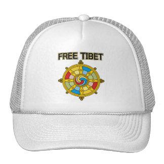 Free Tibet Dharmacakra Mesh Hat