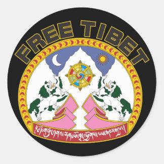 Free Tibet Emblem Classic Round Sticker