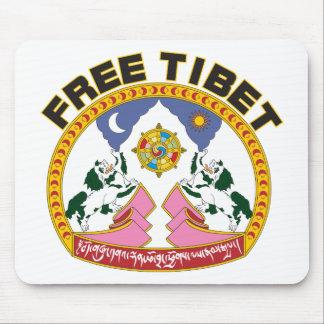 Free Tibet Emblem Mouse Mat