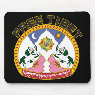 Free Tibet Emblem Mouse Pad