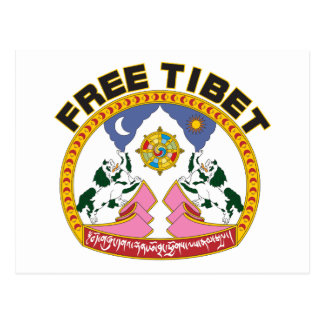 Free Tibet Emblem Postcard