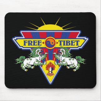 Free Tibet Flag Logo Mouse Pad