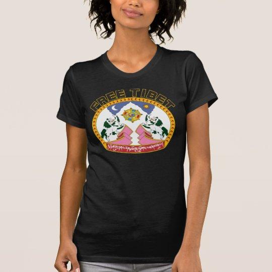 Free Tibet Flag Logo T-Shirt