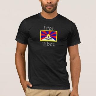 Free Tibet (Flag w/ gold) T-Shirt