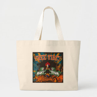 Free Tibet Grunge Art Large Tote Bag