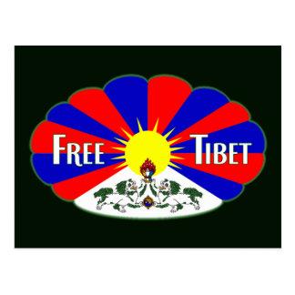 Free Tibet Label Post Card
