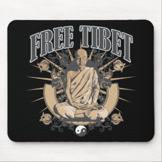 Free Tibet Monk Mouse Pad