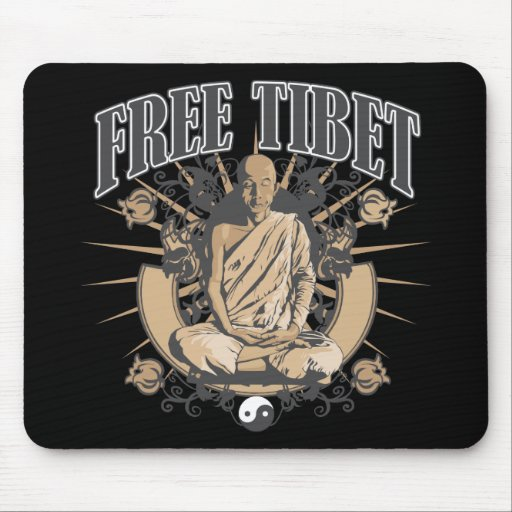 Free Tibet Monk Mouse Pads