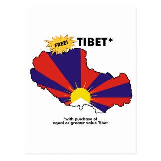 Free Tibet* Postcard