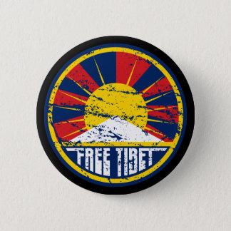 Free Tibet Round Grunge 6 Cm Round Badge