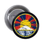 Free Tibet Round Grunge Badges