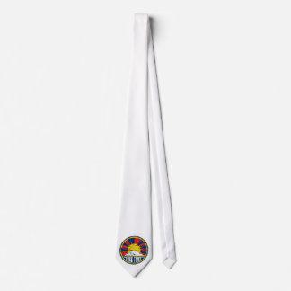 Free Tibet Round Grunge Tie
