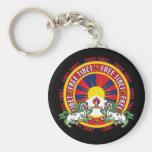 Free Tibet Round Logo Key Chains