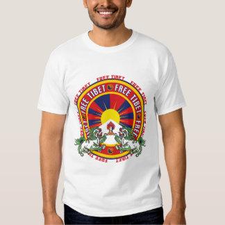 Free Tibet Round Logo T Shirts