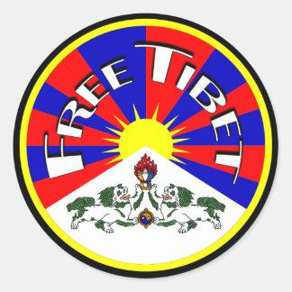 Free Tibet Round Stickers