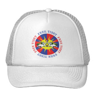 Free Tibet Snow Lions and Independence Slogan Cap