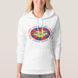 Free Tibet Snow Lions and Independence Slogan Hooded Pullovers