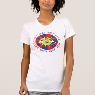 Free Tibet Snow Lions and Independence Slogan T-shirts