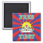 Free Tibet Snow Lions and Sun Symbol Fridge Magnets