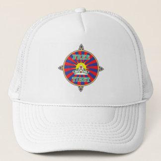 Free Tibet Snow Lions and Sun Symbol Trucker Hat
