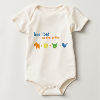 Free Tibet Thick infant Baby Bodysuit