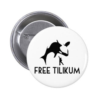 Free Tilikum Save the Orca Killer Whale 6 Cm Round Badge