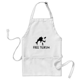Free Tilikum Save the Orca Killer Whale Standard Apron
