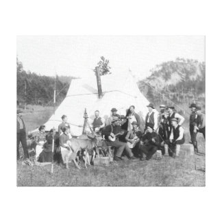 Free Time in Camp for Engineer Corps Stretched Canvas Print