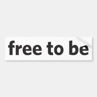free to be car bumper sticker