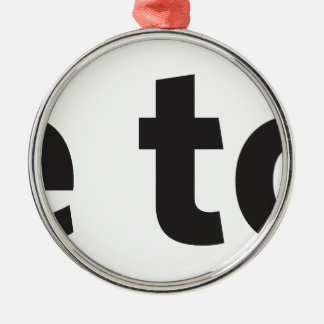 free to be christmas tree ornament